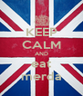 KEEP CALM AND eat merda - Personalised Poster A4 size