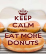 KEEP CALM AND EAT MORE DONUTS - Personalised Poster A4 size