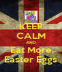 KEEP CALM AND Eat More Easter Eggs - Personalised Poster A4 size