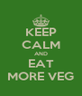 KEEP CALM AND EAT MORE VEG - Personalised Poster A4 size