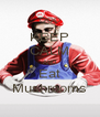 KEEP CALM AND Eat Mushrooms - Personalised Poster A4 size