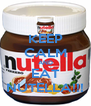 KEEP CALM AND EAT NUTELLA!!! - Personalised Poster A4 size