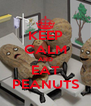 KEEP CALM AND EAT PEANUTS - Personalised Poster A4 size