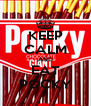KEEP CALM AND EAT POCKY - Personalised Poster A4 size