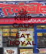 KEEP CALM AND EAT ROYAL - Personalised Poster A4 size