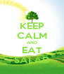 KEEP CALM AND EAT SALAD - Personalised Poster A4 size