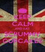 KEEP CALM AND EAT SCRUMMY CUPCAKES - Personalised Poster A4 size