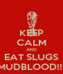 KEEP CALM AND EAT SLUGS MUDBLOOD!!! - Personalised Poster A4 size