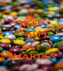KEEP CALM AND EAT SMARTIES - Personalised Poster A4 size
