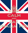 KEEP CALM AND EAT SOMALIA  FOOD - Personalised Poster A4 size