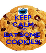 KEEP CALM AND EAT SOME  COOKIES! - Personalised Poster A4 size