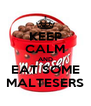 KEEP CALM AND EAT SOME MALTESERS - Personalised Poster A4 size