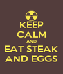 KEEP CALM AND EAT STEAK AND EGGS - Personalised Poster A4 size