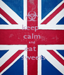 keep  calm and eat  `sweets - Personalised Poster A4 size