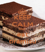 KEEP CALM AND eat tiramisù - Personalised Poster A4 size