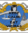 KEEP CALM AND EAT VIEIRAS - Personalised Poster A4 size