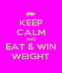 KEEP CALM AND EAT & WIN WEIGHT - Personalised Poster A4 size
