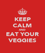 KEEP CALM AND EAT YOUR VEGGIES - Personalised Poster A4 size