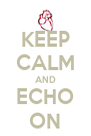 KEEP CALM AND ECHO ON - Personalised Poster A4 size