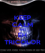 KEEP CALM AND EH TRICOLOR - Personalised Poster A4 size