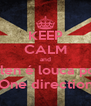 KEEP CALM and Ellen é louca por One direction - Personalised Poster A4 size