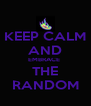 KEEP CALM AND EMBRACE  THE RANDOM - Personalised Poster A4 size
