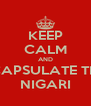 KEEP CALM AND ENCAPSULATE THAT NIGARI - Personalised Poster A4 size