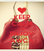 KEEP CALM AND ENJOY AWCA - Personalised Poster A4 size