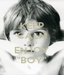 """KEEP CALM AND ENJOY """"BOY"""" - Personalised Poster A4 size"""
