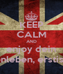 KEEP CALM AND enjoy dein studentenleben, erstis 4 lifeee - Personalised Poster A4 size