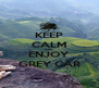 KEEP CALM AND ENJOY GREY CAR - Personalised Poster A4 size
