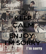 KEEP CALM AND ENJOY  I'M SORRY - Personalised Poster A4 size