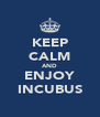 KEEP CALM AND ENJOY INCUBUS - Personalised Poster A4 size