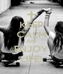KEEP CALM AND ENJOY LIFE! - Personalised Poster A4 size