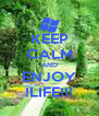 KEEP CALM AND ENJOY !LIFE!!! - Personalised Poster A4 size