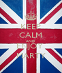 KEEP CALM AND ENJOY  MARTY - Personalised Poster A4 size