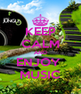KEEP CALM AND ENJOY  MUSIC - Personalised Poster A4 size