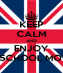 KEEP CALM AND ENJOY OLD 5CHOOL MOTORS - Personalised Poster A4 size