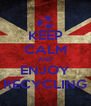 KEEP CALM AND ENJOY RECYCLING - Personalised Poster A4 size