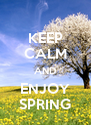 KEEP CALM AND ENJOY SPRING - Personalised Poster A4 size