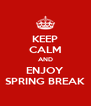 KEEP CALM AND ENJOY SPRING BREAK - Personalised Poster A4 size
