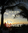 KEEP CALM AND ENJOY SUNSET - Personalised Poster A4 size