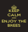 KEEP CALM AND ENJOY THE BREES - Personalised Poster A4 size
