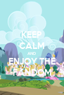 KEEP CALM AND ENJOY THE FANDOM - Personalised Poster A4 size