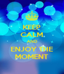 KEEP CALM AND ENJOY THE MOMENT - Personalised Poster A4 size