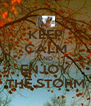 KEEP CALM AND ENJOY THE STORM - Personalised Poster A4 size