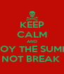 KEEP CALM AND ENJOY THE SUMMER  AND I DO NOT BREAK  MY BALLS - Personalised Poster A4 size