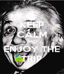 KEEP CALM AND ENJOY THE TRIP - Personalised Poster A4 size