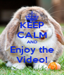 KEEP CALM AND Enjoy the Video! - Personalised Poster A4 size
