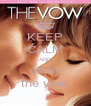 KEEP CALM AND enjoy the vow  - Personalised Poster A4 size